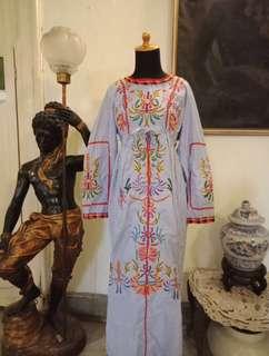 Kaftan Blue Embroidery