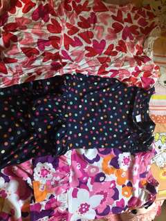 3 dresses from U.S used once or twice
