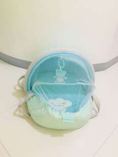 Baby Company carry-on co-sleeper with mosquito net