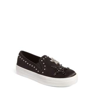 brandNew Authentic Steve Madden Pluto Embellished Slip-On Sneaker (Women)