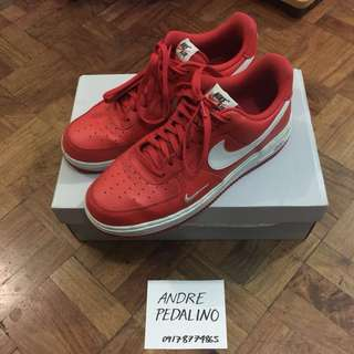 Nike Red Air Force 1 (Size 9)
