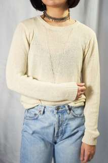 Forever21 Off-White Knit Sweater