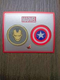 Iron Man & Captain America Pin badge