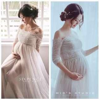 🚚 孕婦拍照紗裙📷