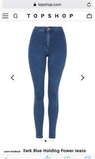 Topshop High wasted Joni Jeans W26