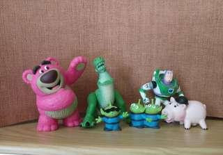 玩具總動員 扭蛋 場景 熊抱哥 抱抱龍 巴斯光年 三眼怪 火腿豬