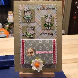 Twinkle toes handmade card
