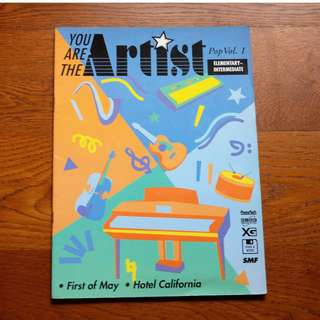 You Are the Artist Pop Vol 1 by Yamaha Music (for Piano)