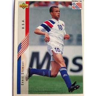 Ernie Stewart (USA) Soccer Football Card #17 - 1994 Upper Deck World Cup USA '94