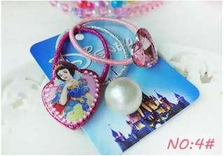 Children Girls Baby Cinderella Snow White Hairline Hairband Rubber Band Hair Accessories