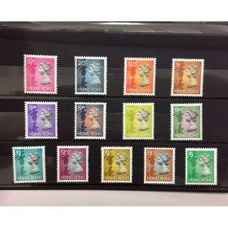 香港回歸前郵票