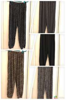 Chiffon Plus Size Women's Pants