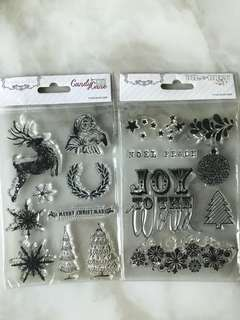 2 for $8 Christmas Clear Stamps by Teresa Collins