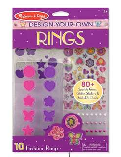 Melissa & Doug Design-Your-Own Rings Set With 10 Fashion Rings