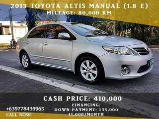 Toyota Altis 2013 manual (1.6 E)