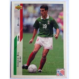Joaquin Del Olmo (Mexico) Soccer Football Card #29 - 1994 Upper Deck World Cup USA '94