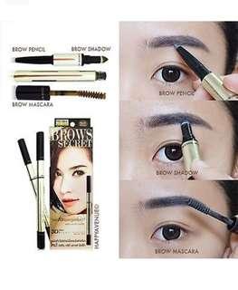 Mistine 3 in 1 Eyebrow set of Pencil brow, shadow and mascara