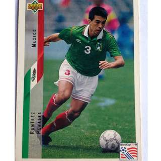 Ramirez Perales (Mexico) Soccer Football Card #32 - 1994 Upper Deck World Cup USA '94
