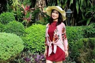 Inner Dress & Floral Cardigan Terno