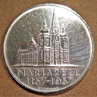 25 Schilling Commemorative issue Mariazell Basilica
