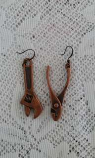 New Spanar and Plier earrings