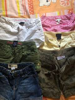 Branded shorts.bossini,raplh lauren,billabong,gap,polo club..bundle of 6 shorts