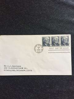 US 1966 2c x3 Frank Lloyd Wright FDC Stamps