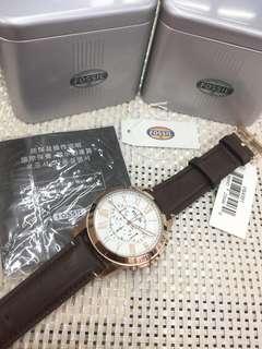 Fossils watch w/ box