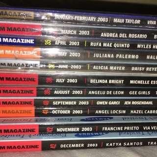 Complete 2003 FHM Philippines Magazines