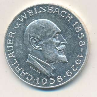 25 Schilling Commemorative issue 100th Anniversary of Auer von Welsbach, chemist