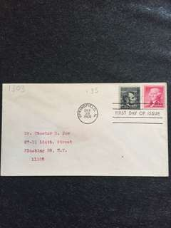 US 1966 4c Abraham Lincoln Coil FDC stamp