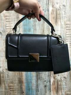 PEDRO Top Handle Flap Bag Black #ramadan50