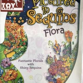 Pictured in Sequin flora
