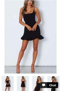 Black Swallow Little Black Dress