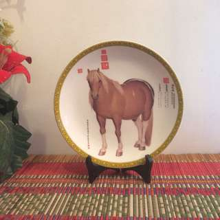 🆕Display plate with horse ( without stand)
