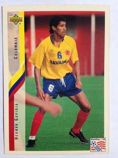 Hernan Gaviria (Colombia) Soccer Football Card #65 - 1994 Upper Deck World Cup USA '94