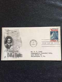 US 1966 Bill of Rights FDC stamp