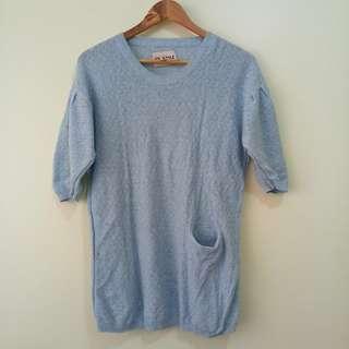 Short-sleeved Knitted Blouse