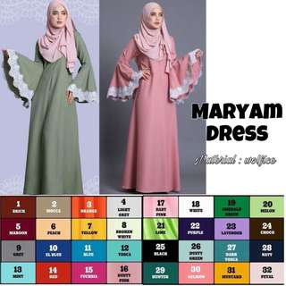 MUSLIMAH COLLECTION (DRESS/JUBAH) - MARYAM DRESS , SOFIYAH DRESS , TATJANA DRESS , FEMINA DRESS , ALORA DRESS , OMBRE DRESS