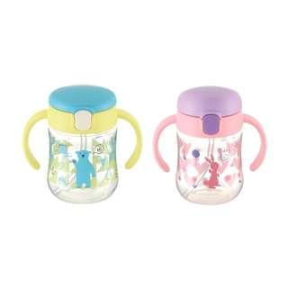 Blove 日本 Richell杯 雙耳飲管杯 幼兒訓練杯 BB飲水杯嬰兒學習杯 TLI吸管杯 200ml #RHTL2
