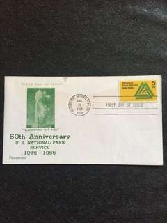US 1966 National Park Services FDC stamp
