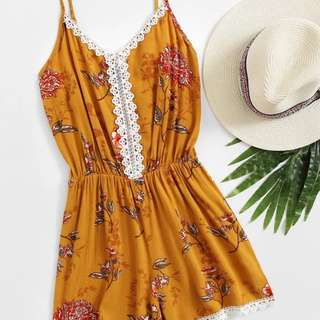 NEW! Floral Yellow Romper