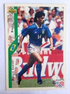 Marcio Santos (Brazil) Soccer Football Card #80 - 1994 Upper Deck World Cup USA '94#80