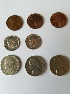 USA (One Dime, One Cent, Five Cents)
