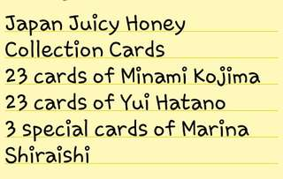 Japan Authentic Collection Cards