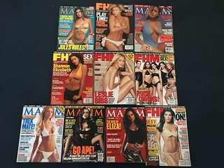Year 2001 Magazines for Men (FHM & Maxim)