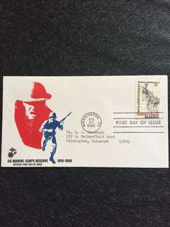 US 1966 Marine Corp Reserve FDC stamp