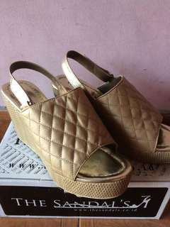 Wedges Gold The Sandal's