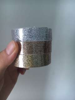 Three colours of Glitter tape from Kikki.K