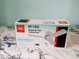 KDK Ceiling Fan M11SU with remote (Silver)